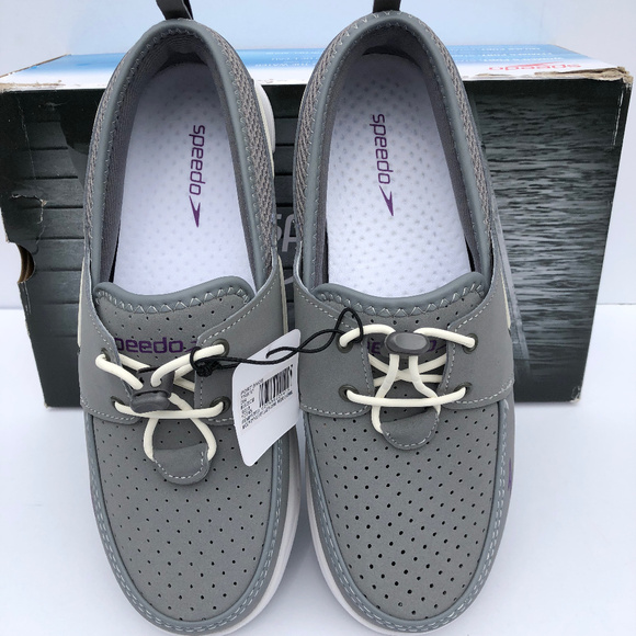 f47267a29f1781 Women s Speedo Port Water Shoe Gray NEW